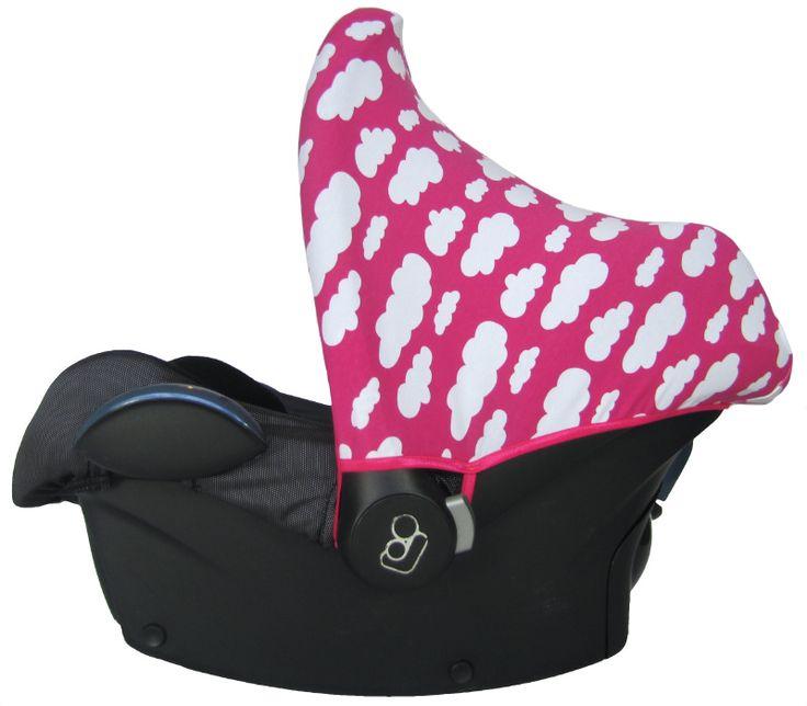 Zonnekap Wolk Fuchsia Roze Maxi Cosi maxicosi kap cover car seat sonnendach sun hood canopy bezug ersatz babyschale