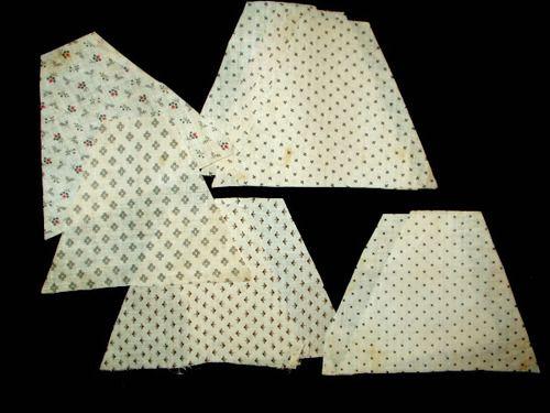 10 Quilt Block 1900 Calico Fabric Pieces For Quilting