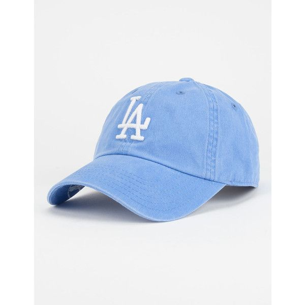 American Needle MLB Baseball LA Dodgers Dad Hat ($26) ❤ liked on Polyvore featuring men's fashion, men's accessories, men's hats, blue and mens baseball hats
