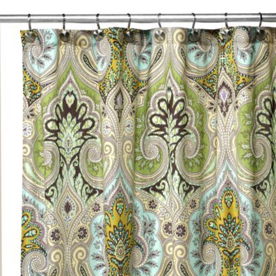 Echo Design Majolica 72 Foot Foot W X 84 Inch L Fabric Shower Curtain