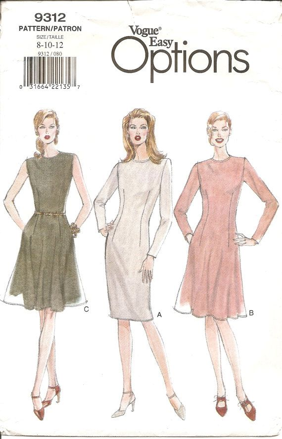 Check out this item in my Etsy shop https://www.etsy.com/listing/200600196/vogue-dress-sewing-pattern-9312-flared