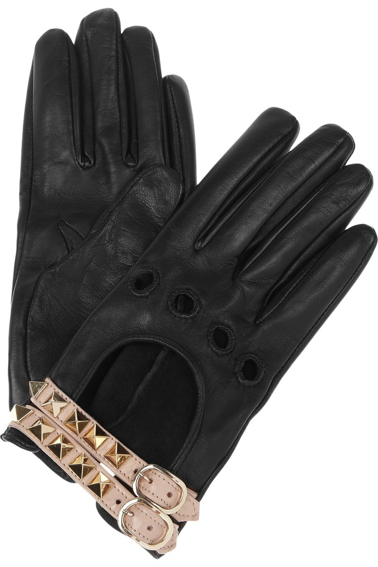 Mens leather gloves target - Valentino Leather Studded Gloves If I Drive For You You Give Me A