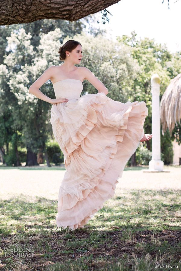 leila hafzi wedding dress 2013 hema ruby color wedding dress