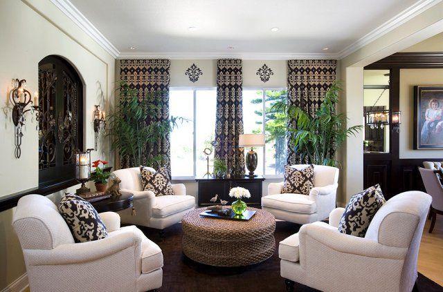 Шторы с принтом, дамасский узор в интерьере #шторы #ткань #домашнийтекстиль #текстиль #дом #дизайн #интерьер #дамасский #узор #модныеокна #окно