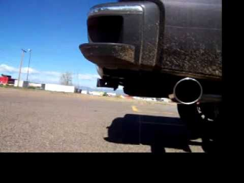 """Almost exactly how julia sounded. 2014 Sierra Flowmaster 3"""" tail 4"""" magnaflow Chrome"""