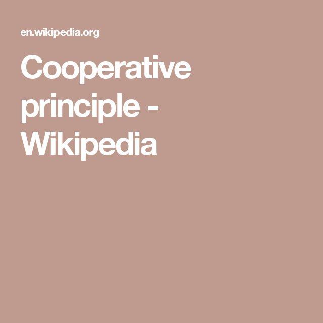 Cooperative principle - Wikipedia