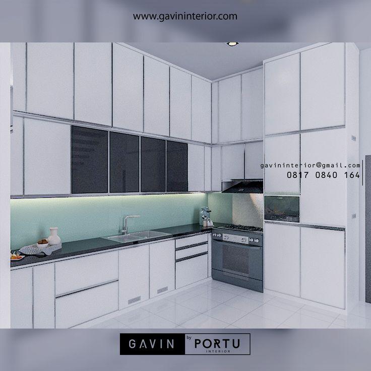 Design 3D kitchen set untuk klien di kampung ambon ...
