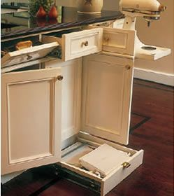 Drawers organized kitchen and cabinet drawers on pinterest - Kitchen cabinet toe kick options ...