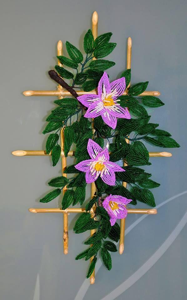 Ветка с цветами | biser.info - всё о бисере и бисерном творчестве