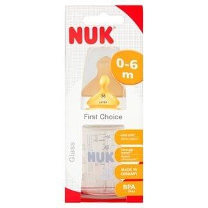 Nuk First Choice Glass Bottle 120ml With Latex Teat
