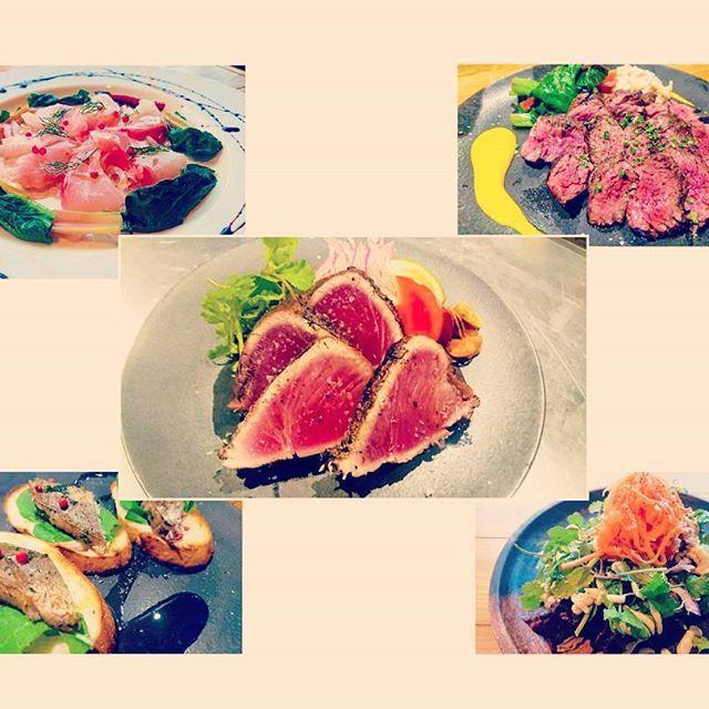 山梨県 甲府市「BEAR BONITO」をENJOY!  毎日キッチンこもってひたすら料理✴ 楽しんでおります❗❗ 仕上がってきた~❗❗🌴 ・ ・ #山梨#甲府#yamanashi#kofu#ベアボニート#bearbonitokofu#enjoydinner#ディナー#dinner#enjoydinner#洋食#instafood#instagood#instagramjapan#japan#food#foodpic#魚#高知の食材#高知#藁焼き#わら焼き#カツオ#かつお#鰹#ぜよ#カルパッチョ#肉