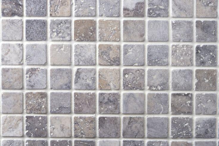 Silver Tumbled Travertine Mosaics