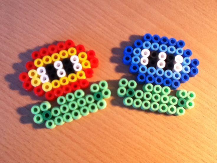 Mario Flowers Hama Beads by Kitsune0okami on DeviantArt