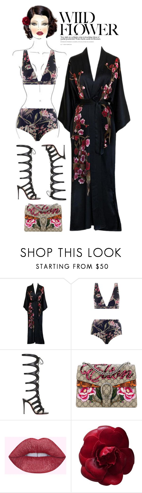 """""""Beach house in Miami"""" by johnrefos ❤ liked on Polyvore featuring Zimmermann, M.A.C, Christian Louboutin, Gucci and Chanel"""