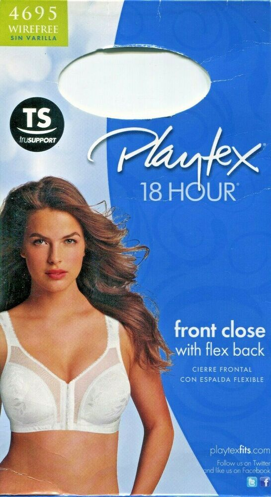 fa54665cd Details about Playtex 18 Hour Easier On Front-Close Wirefree Bra Flex Back  Women Comfort Strap