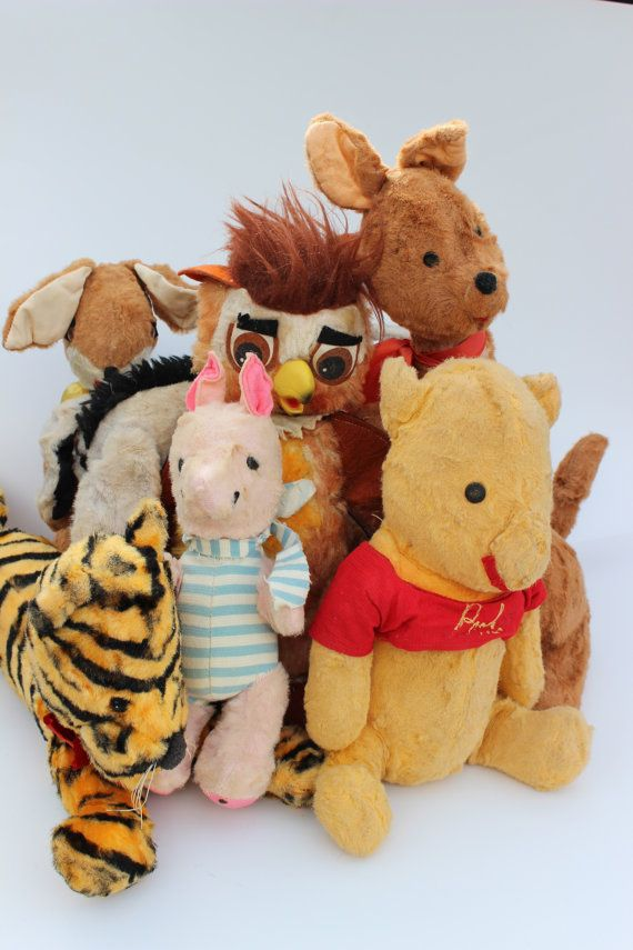 https://www.etsy.com/treasury/MTg3NzM2Mzh8MjcyMjcxMzgzOQ/childhood Vintage Winnie The Pooh Toy Doll Collection by FlynnTellsAStory, $897.00