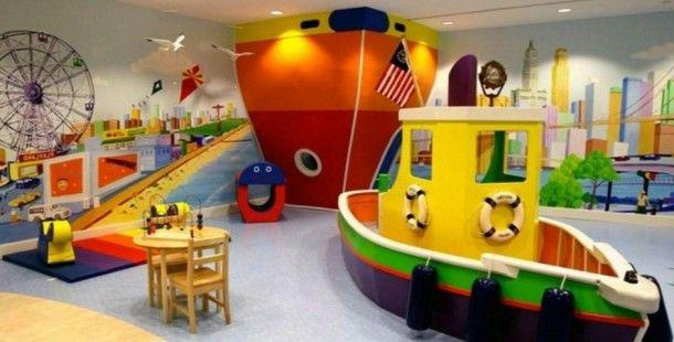 Çocuklar için Oyun Odası Tasarım Fikirleri 2016