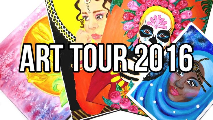 My 2016 Artwork Collection, Coloring Pages and Crafts. I'm showing you a tour of art and crafts I made in 2016. There's watercolor and acrylic paintings, Inktober drawings, coloring pages, recycled crafts, nature crafts and other DIY crafts.