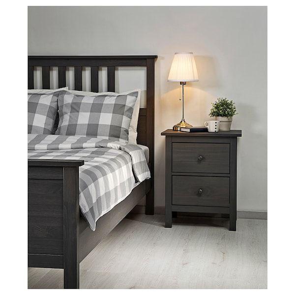 Hemnes Bed Frame Gray Dark Gray Stained Luroy Queen Ikea Ikea Hemnes Bed Hemnes Bed Adjustable Beds