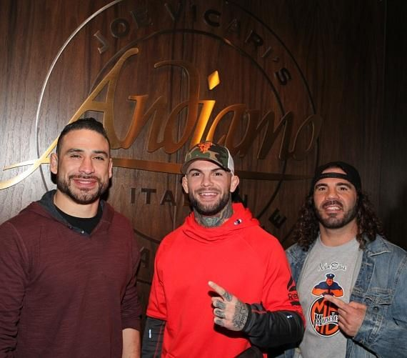 UFC Fighters Danny Castillo, Cody Garbrandt and Clay Guida at Andiamo Italian Steakhouse Las Vegas