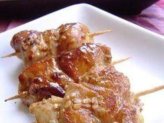 Minis brochettes de poulet aux graines de sésame...