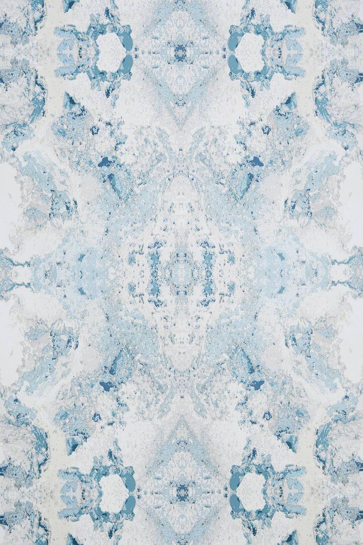 Inner Beauty Wallpaper Blue and white wallpaper, Pattern