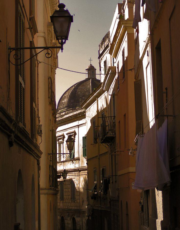 A street in the old town of Sassari. Sardinia, Sardegna