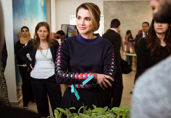 Queen Rania Launches JRF's Mobile Technology Exhibition