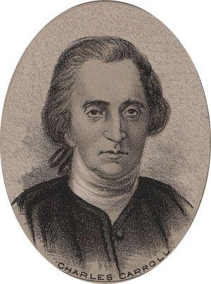 Charles Carroll of Carrollton  1737-1832  Representing Maryland at the Continental Congress