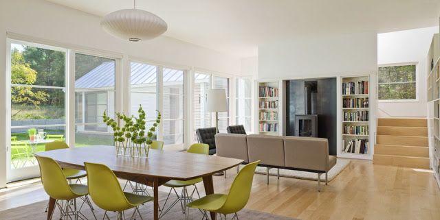 This light and airy contemporary vermont farm house by for The family room vermont