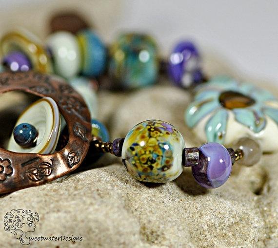 'the Buskers Ballad' Lampwork bracelet by Deborah Lambson [Sweetwater Designs]