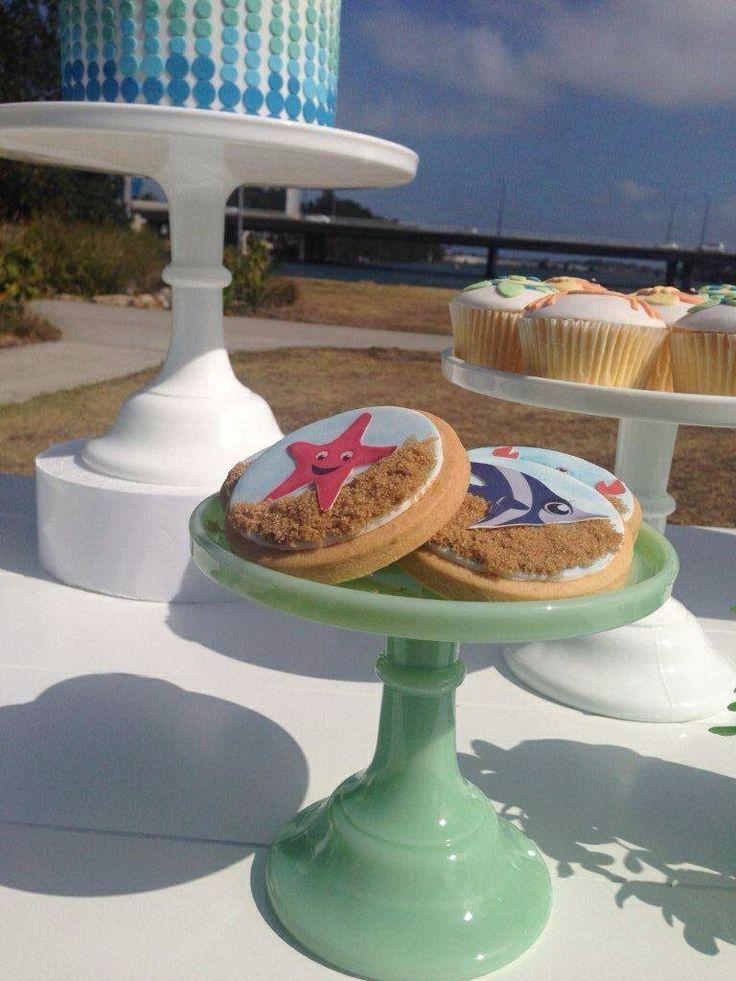 Under the Sea Cookies by Sweet Bloom Cakes - Dessert Buffet by Sweet Soirees (www.sweet-soirees.com.au)