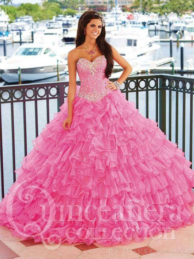 57 best vestido de quinceañero images on Pinterest   Ballroom dress ...