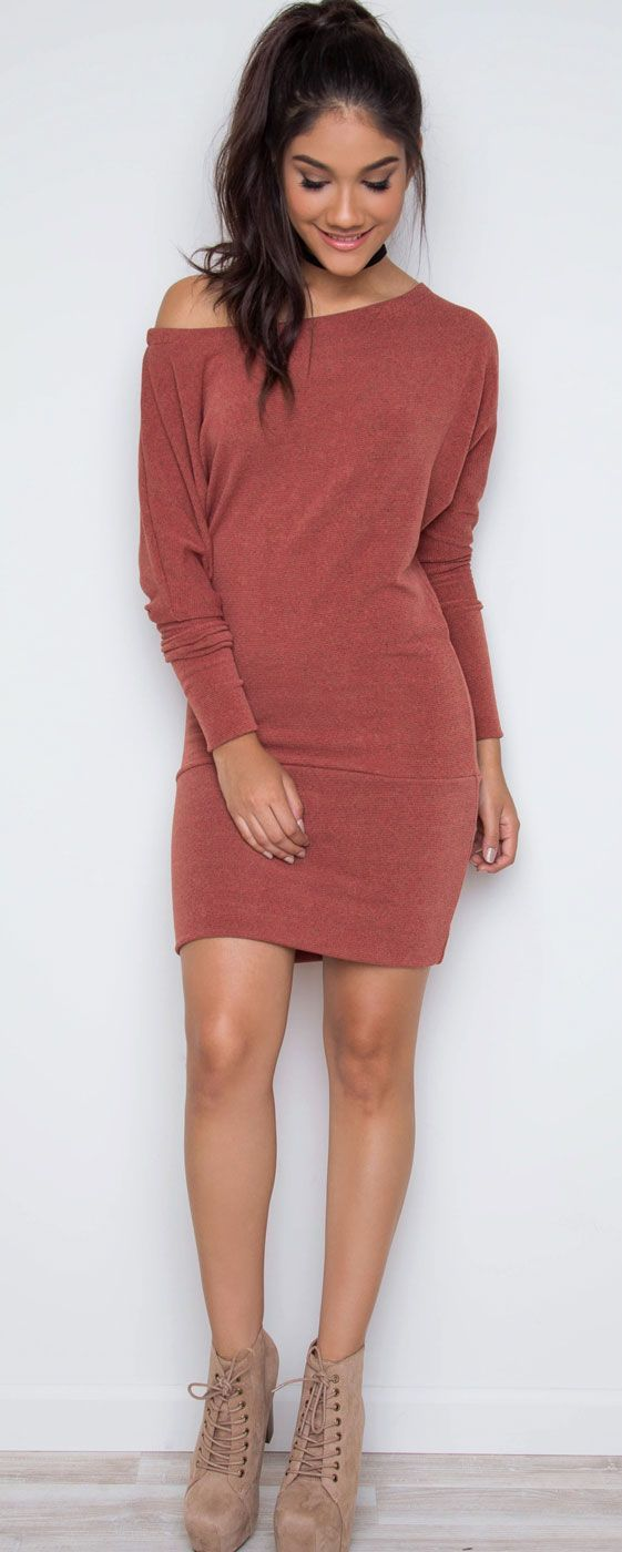 Rust mini dress
