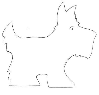 Scottie pattern- awww Grissom dog!