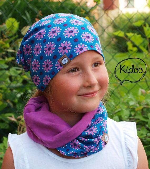 Organic cotton children hat Dottie Blue