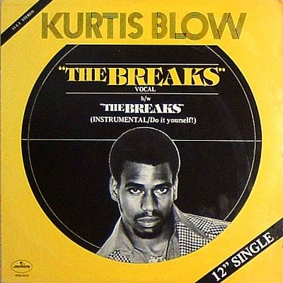 "1980 | With ""Rapper's Delight"" still riding the charts, Kurtis Blow releases his first single, ""Christmas Rappin'"". Blow's second single, ""The Breaks,"" is a hit; and becomes hip-hop's first gold single. In his shows, Blow now sometimes allows DJ Run to rhyme with him."