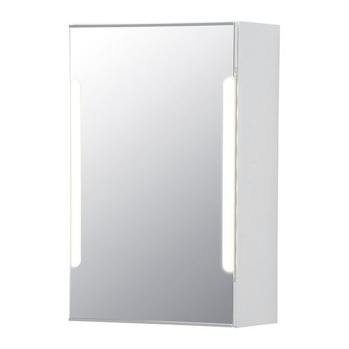 storjorm mirror cabinet w1 door u0026 light ikea