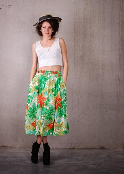 Round She Goes - Market Place - Summer Day Skirt