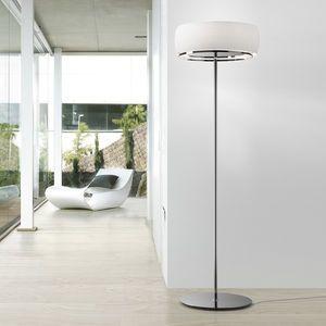 floor-standing lamp / contemporary / blown glass / iron