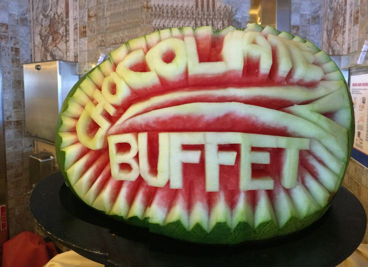 Watermelon carvings/signage