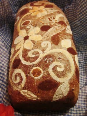 Beautiful painted bread loaves and tutorials.