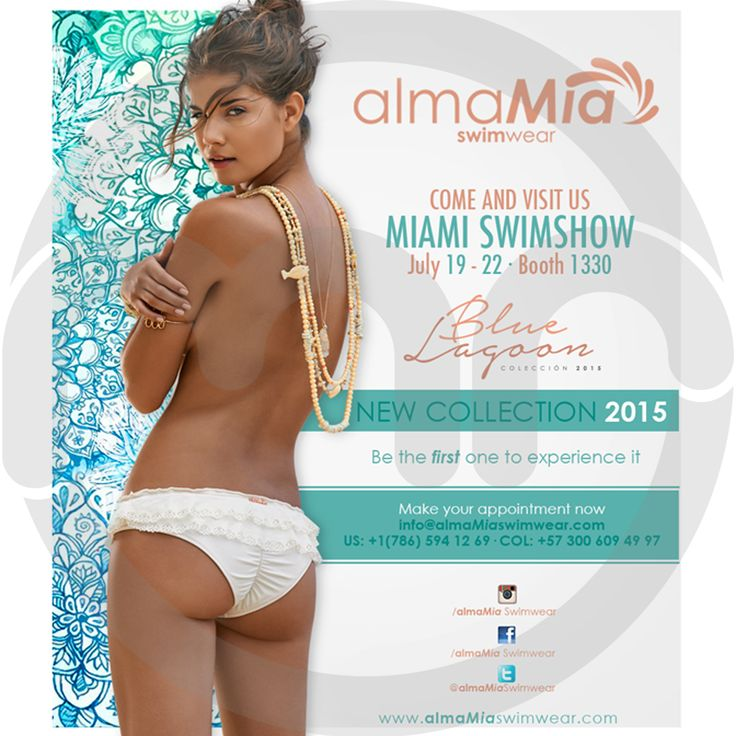 Diseño invitación Miami Swin Show 2014 - 2015 AlmaMia Swinwear.