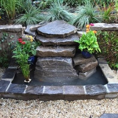 Small rock ponds with fountains design pictures remodel - Small garden fountain ideas ...
