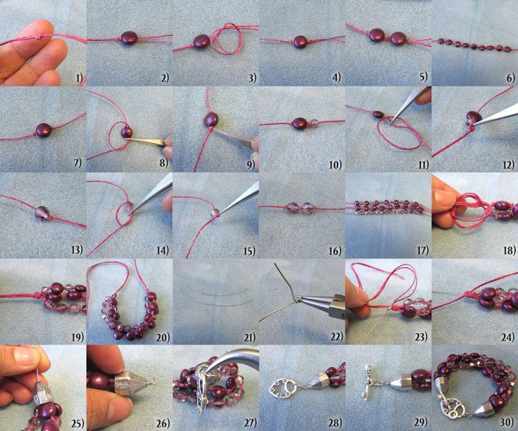 Knotted Bracelet instructions