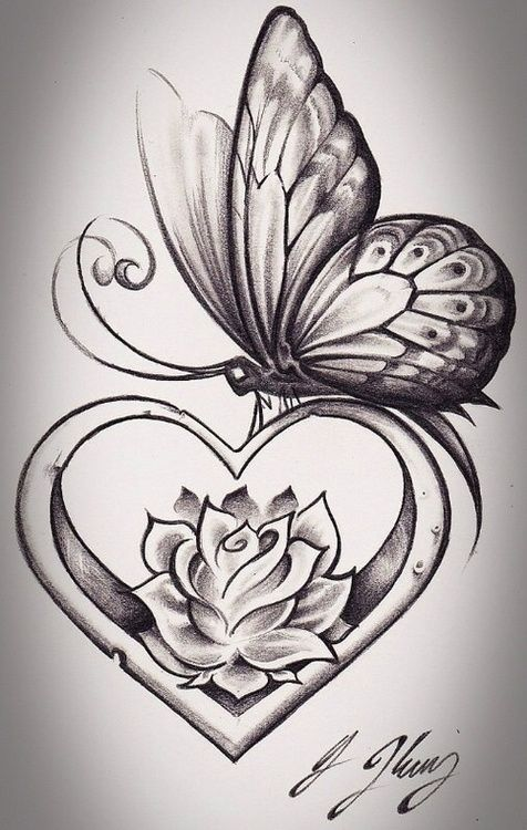 tattoos butterfly and rose vine tattoos on waist butterfly on rose ...