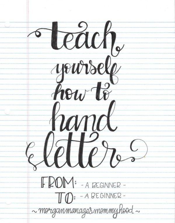 Beginner Hand Lettering