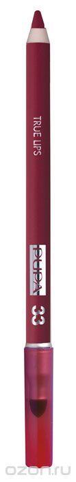 PUPA Карандаш для губ с аппликатором True Lips Pencil тон №33 бордо, 1.2 г025633Контурный карандаш для губ с аппликатором для растушёвки True Lips очерчивает губы, придавая им контур, с помощью яркого насыщенного цвета. Буквально после первой же процедуры кожа выглядит более ухоженной.