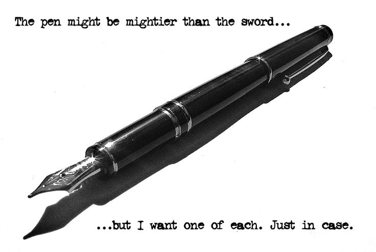 Resolved: The Pen is Mightier Than The Sword
