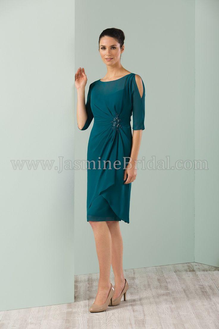 Jasmine bridal jasmine black label style m180016 in teal for Teal dresses for weddings